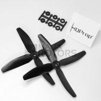 HQProp 5X4X4 R Glass Composite Quad-Bladed Propeller (Black)