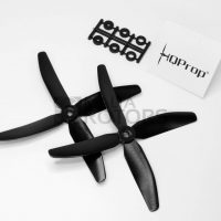 HQProp 5X4X4 Carbon Composite Quad-Bladed Propeller (Black)