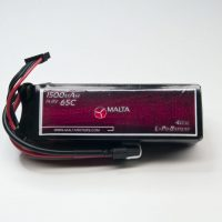 MaltaRotors 14.8v 1500mah 65c LiPo Battery