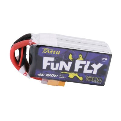 Tattu Funfly Series 1300mAh 14.8V 100C 4S1P Lipo Battery
