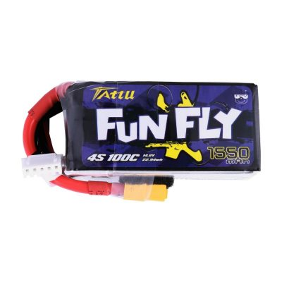 Tattu Funfly Series 1550mAh 14.8V 100C 4S1P Lipo Battery