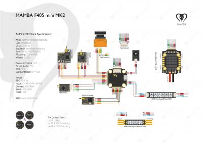 DIATONE MAMBA F405 MINI F4 8K FLIGHT CONTROLLER MK2