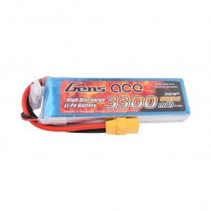 Gens Ace 3300mAh 11.1V 25C 3S1P Lipo Battery