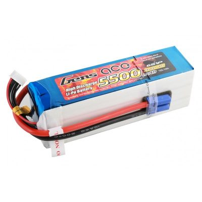 Gens ace 5500mAh 22.2V 45C 6S1P Lipo Battery