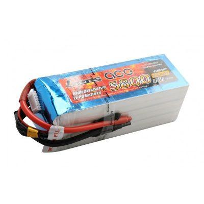 Gens Ace 5800mAh 22.2V 45C 6S1P Lipo Battery